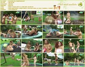 Relaxing on a trampoline - naturists movie