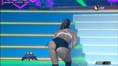 Paula Amoedo bends over to show her butt