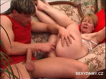 Girl gives slow blowjob