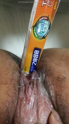 Toothpaste inside pussy