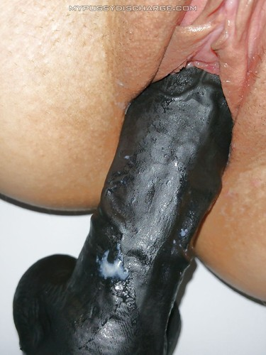 Creamy Black Pussy Dildo